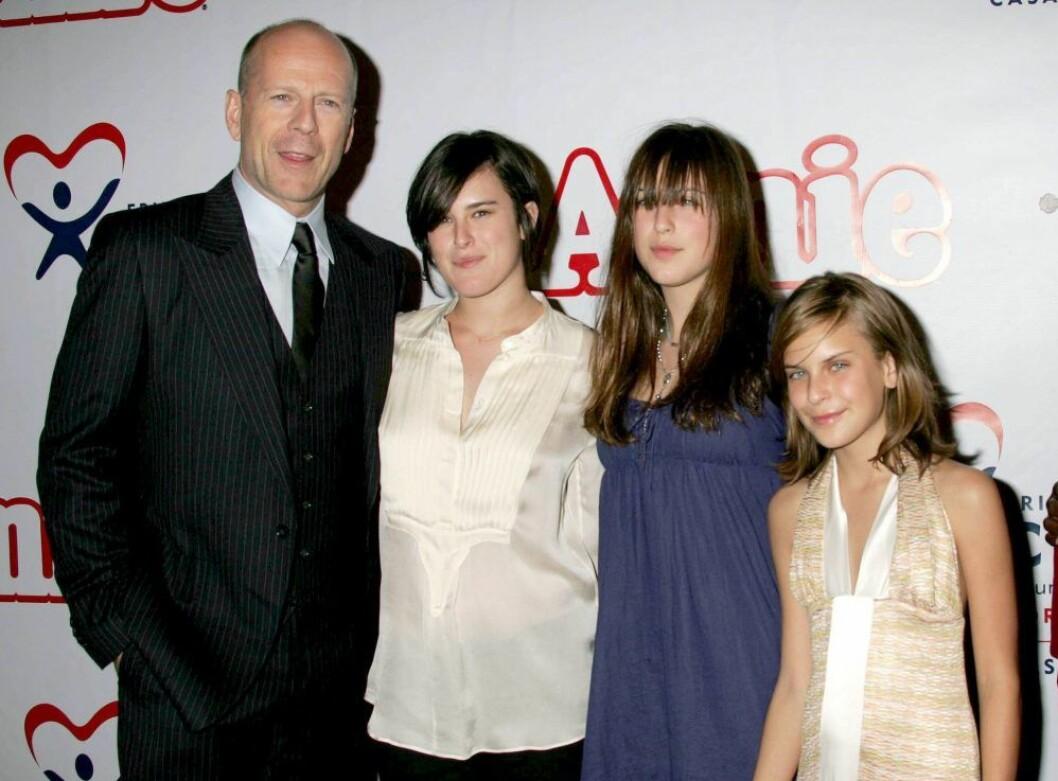 bruce willis med tre döttrar