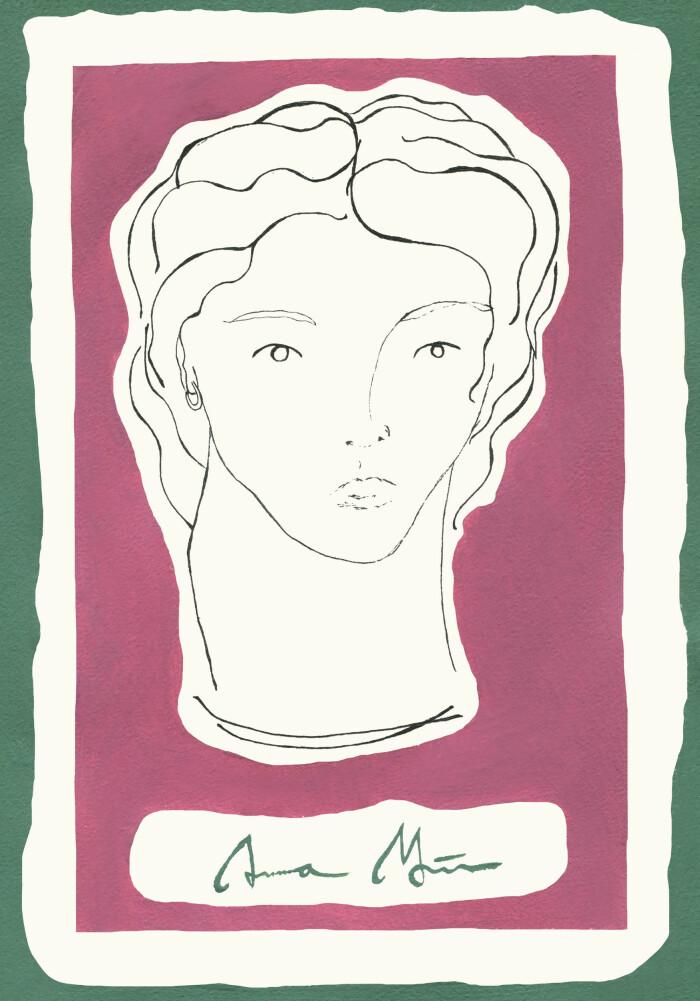 sicily collection palermo linjeporträtt av anna mörner