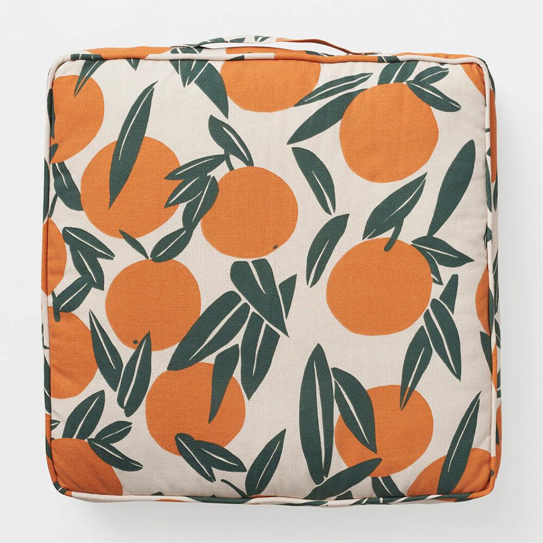 stoldyna med apelsinmönster från Åhléns