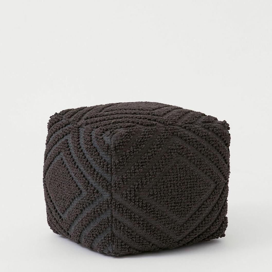 Grå sittpuff i ull från H&M Home