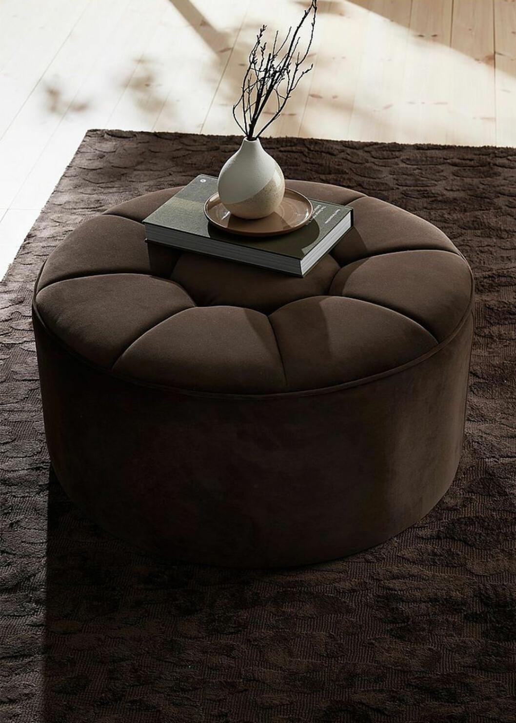 brun sittpuff från ellos home