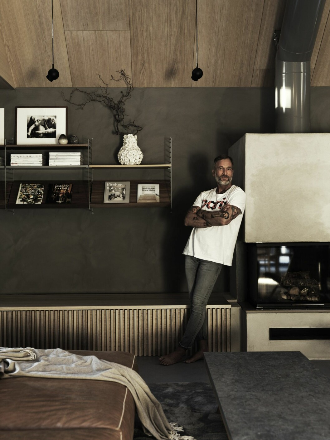 Martin Nygren i sitt hem i Skåne