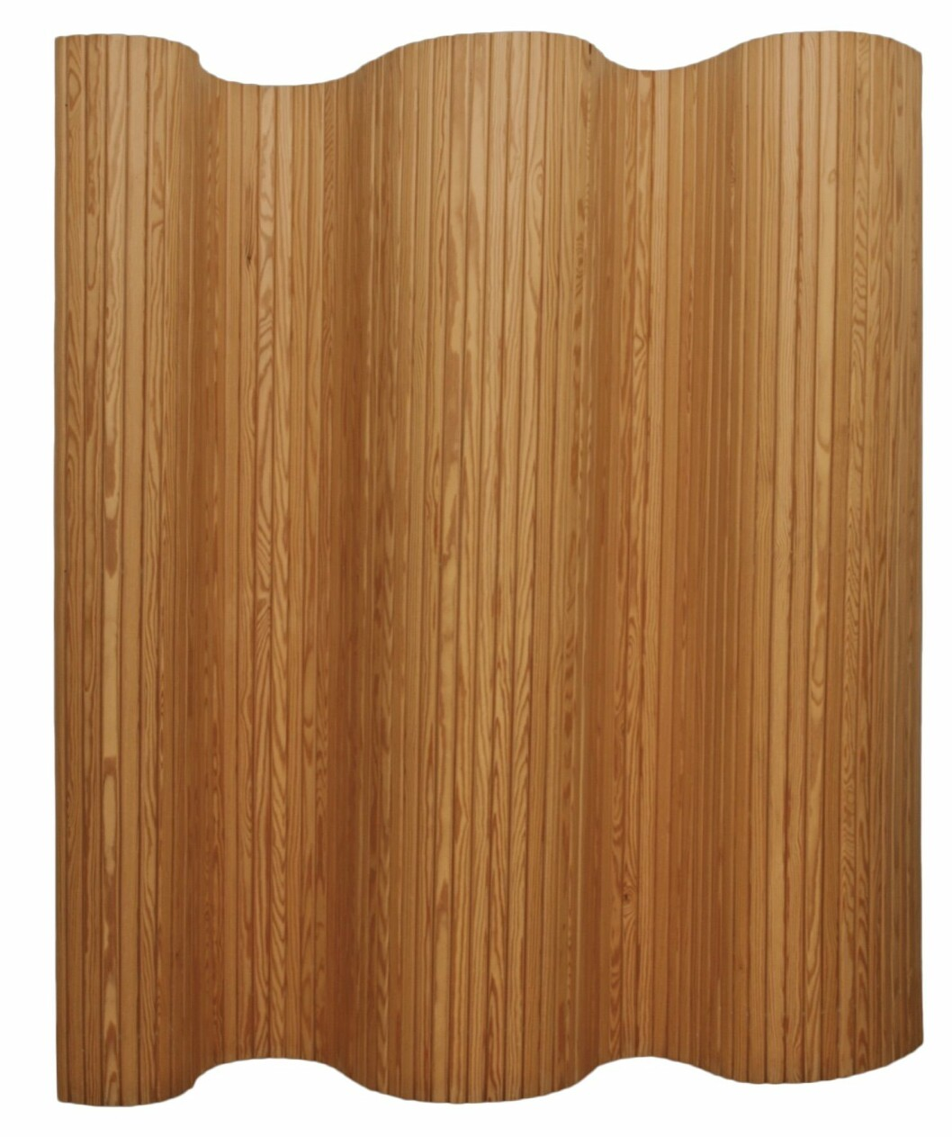 Klassiska rumsavdelaren Skärm 100 i trä med spännande form, design Alvar Aalto för Artek.