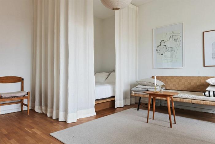 Skärma av rum med gardiner