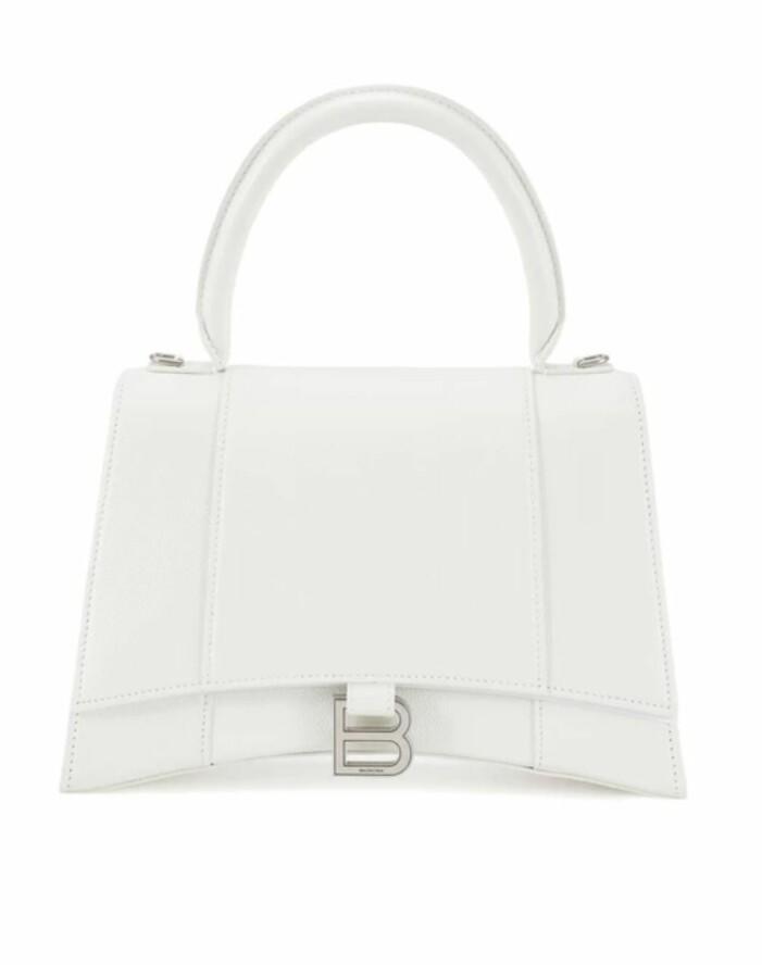Vit liten handväska från Balenciaga