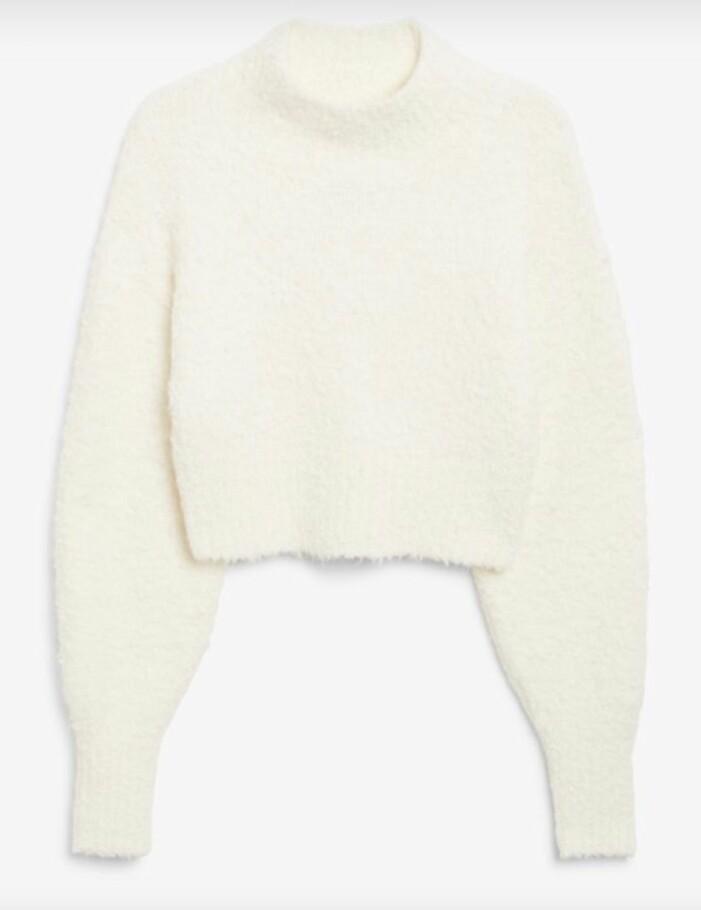 Lurvig vit tröja från Afound