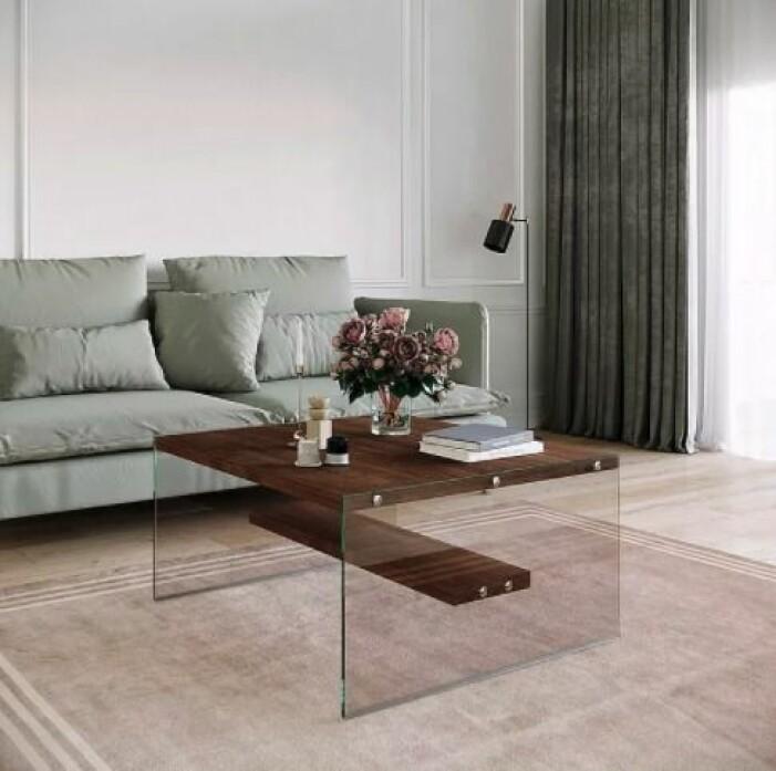 soffbord i trä och glas