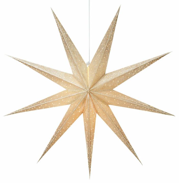 Skarp julstjärna i neutral nyans från Åhléns.