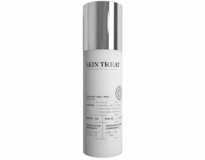 skin treat face mask 10 min aha/bha/pha recension omdöme betyg