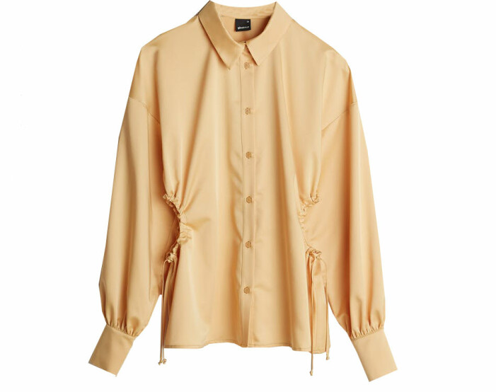 gul skjorta dam