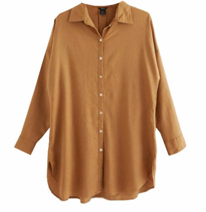 brun linneskjorta oversized