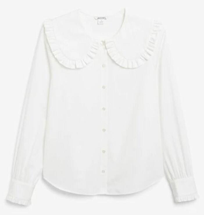 Skjortblus med säsongen it-detalj: kragen!