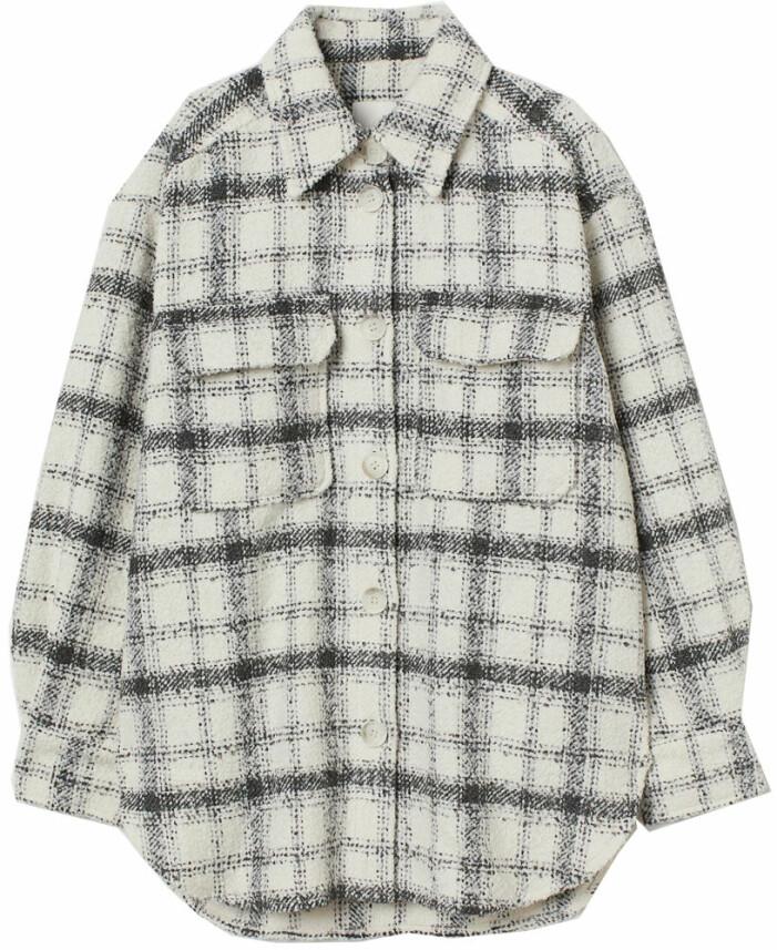 rutig skjortjacka från H&M