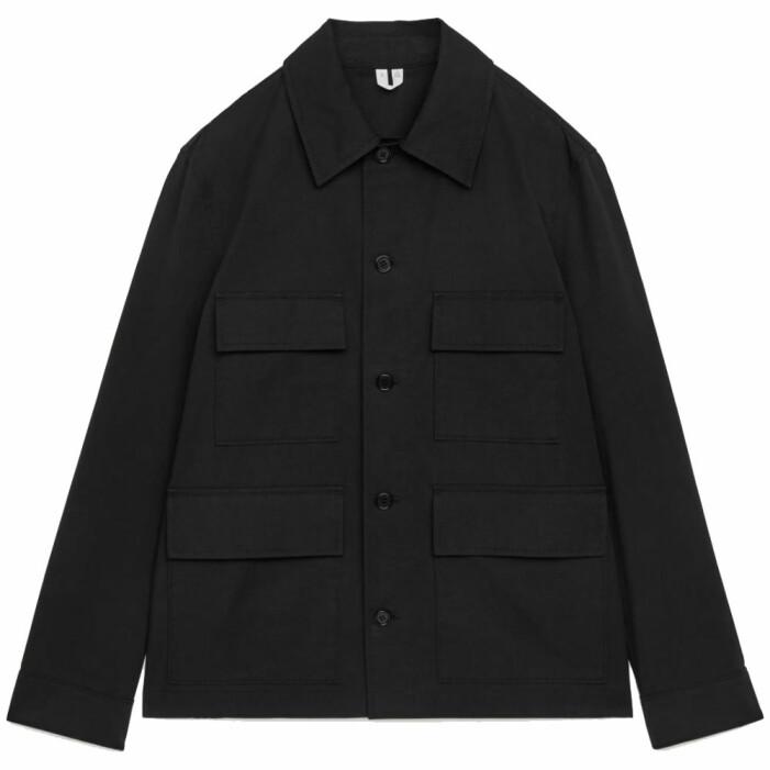 svart skjortjacka för herr från Arket