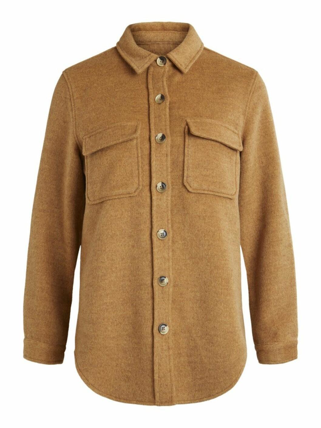 Brunbeige skjortjacka från Object collectors item.