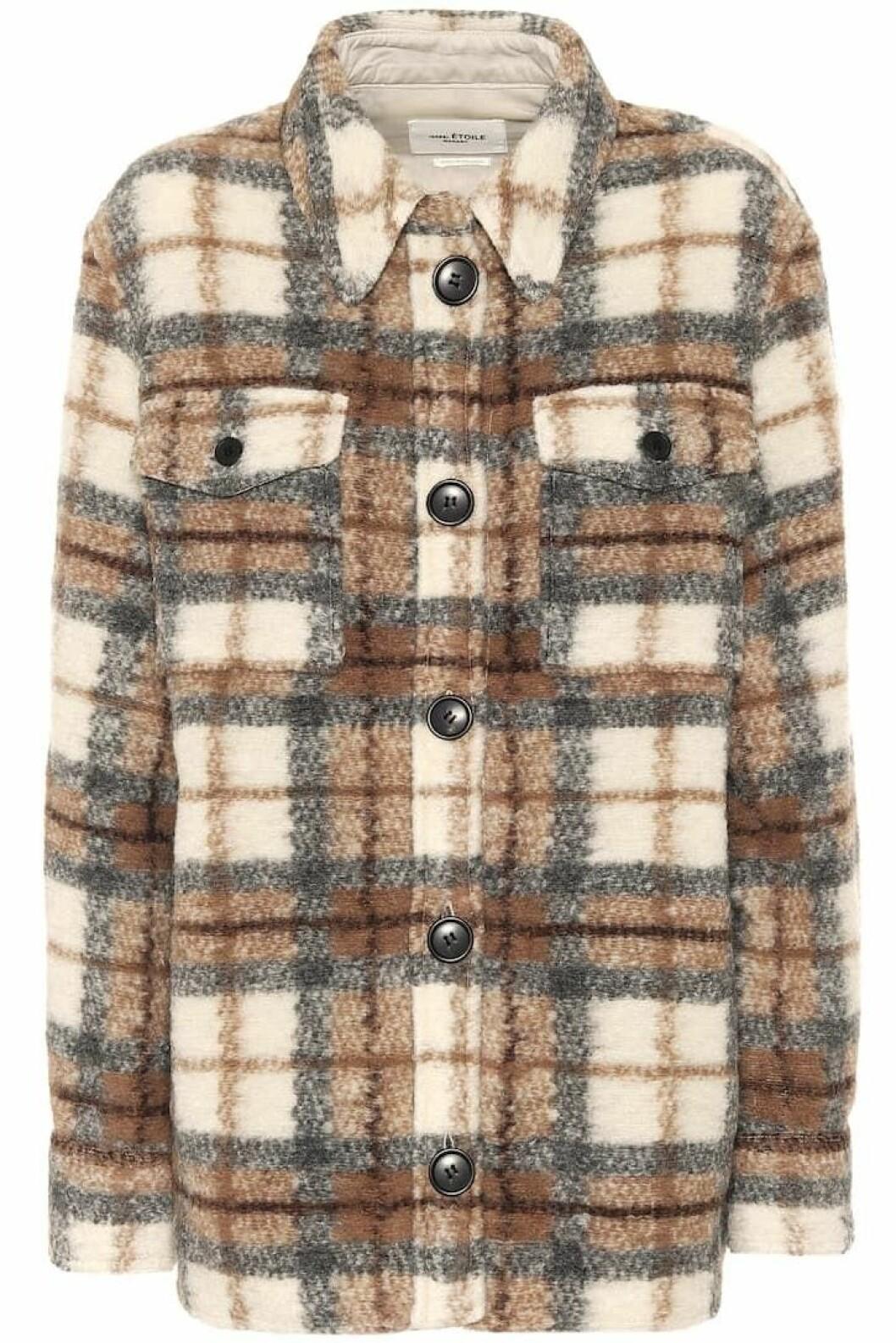 Rutig skjortjacka från Isabel Marant Étoile.