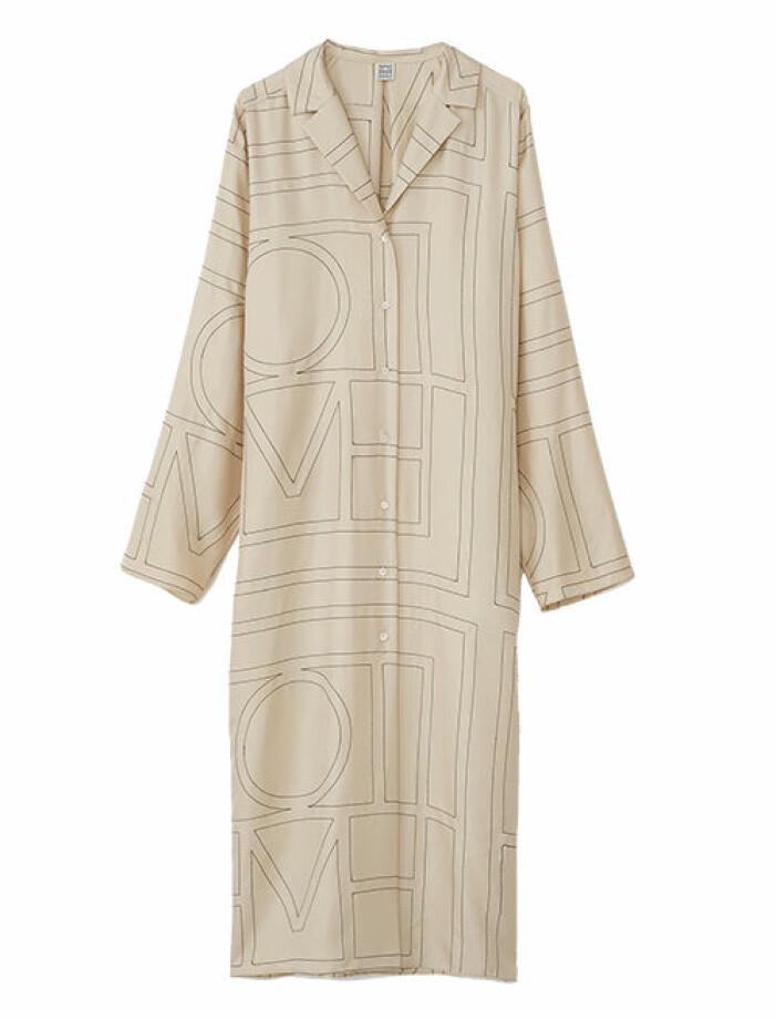 skjortklänning i silke