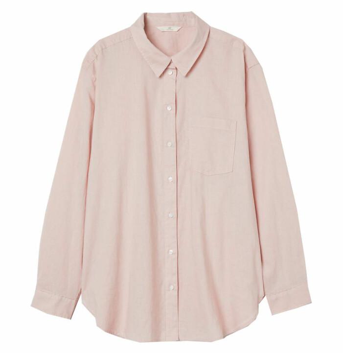 rosa linneskjorta