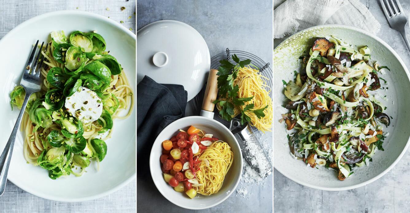 Sköna, gröna pastarätter för alla tillfällen