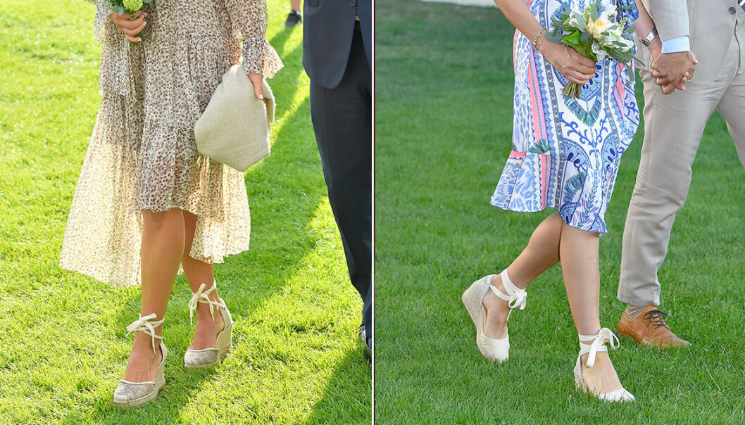 Madeleine och Sofia i likadana skor