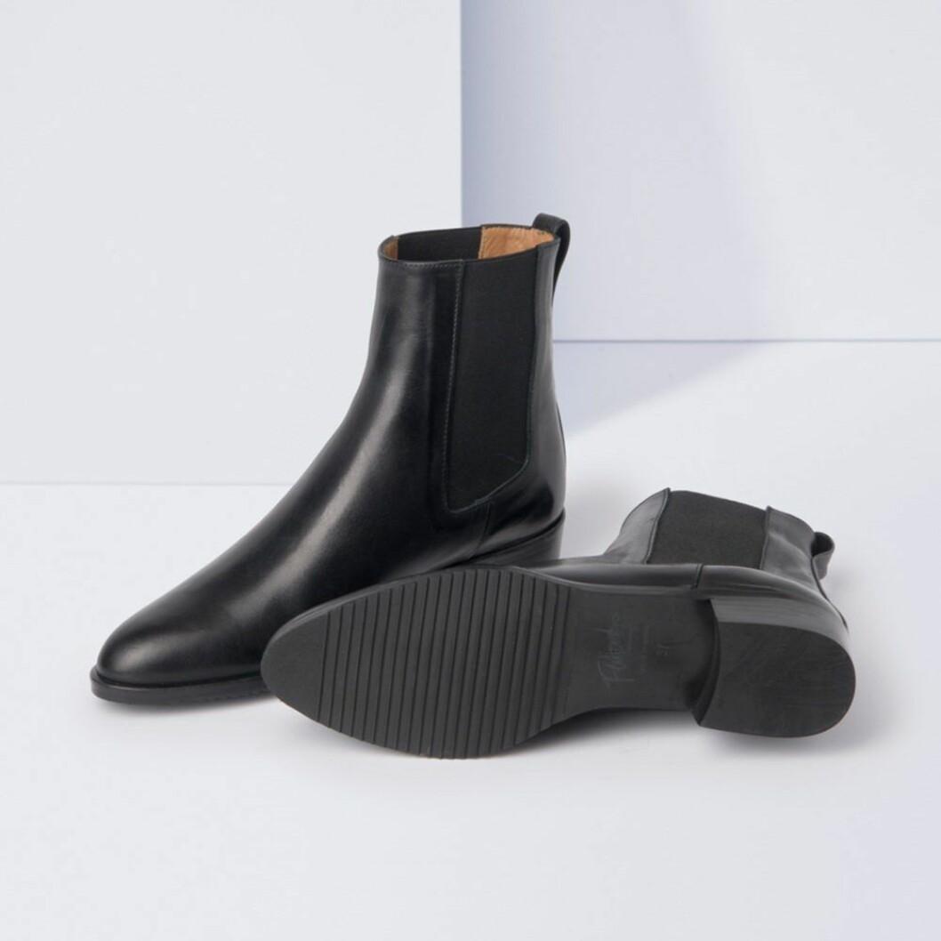 Lucile svart nappa boots