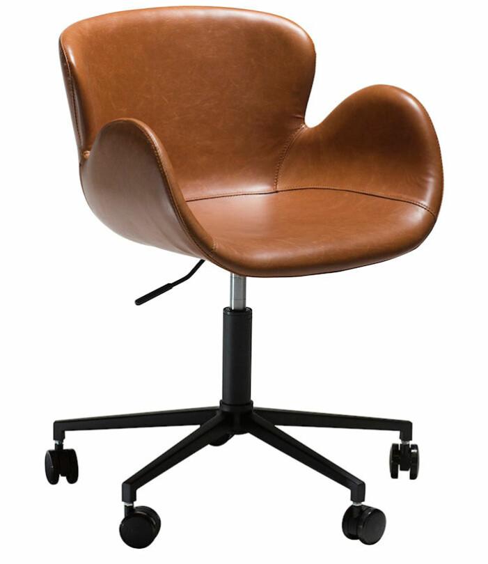 skrivbordsstol på hjul läder