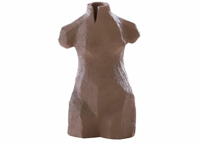 brun skulptur inredning