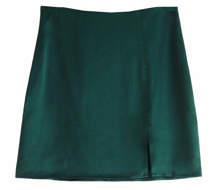 grön minikjol med slits