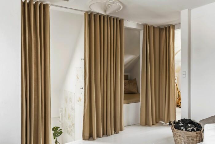 Smarta lösningar Århus draperier sovrum