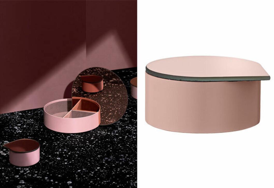 Stilrent rosa smyckeskrin från AYTM