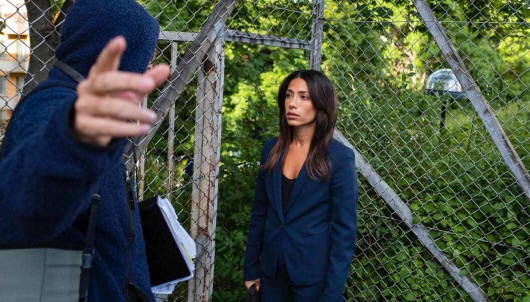 Leya vid staket