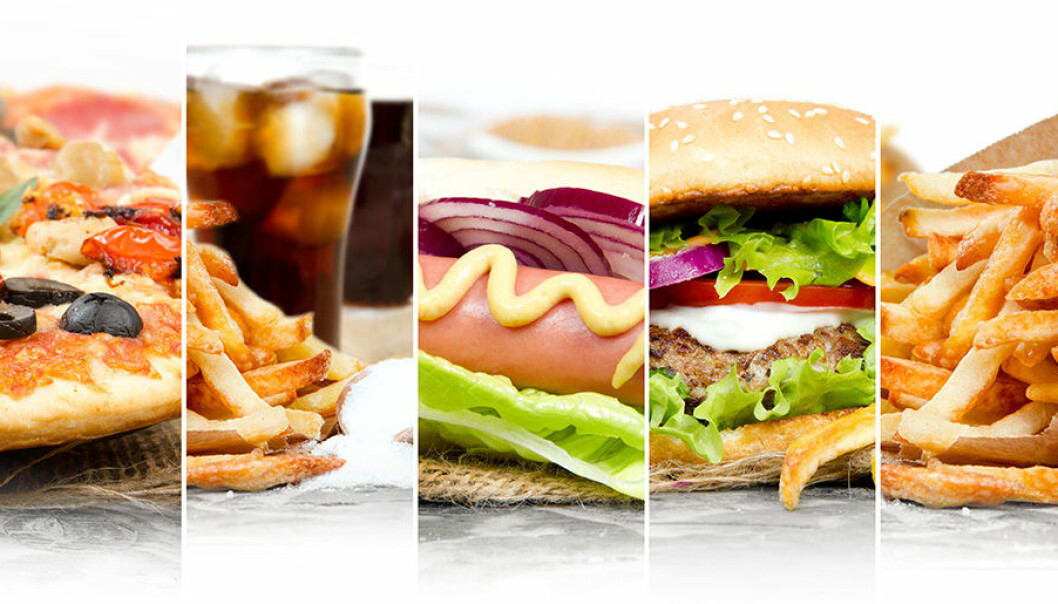 Snabbmat innehåller ofta många kalorier.