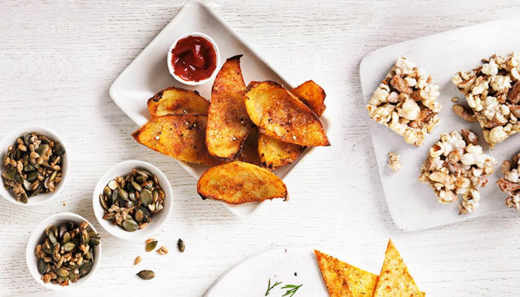 6 goda och enkla snacks och tilltugg