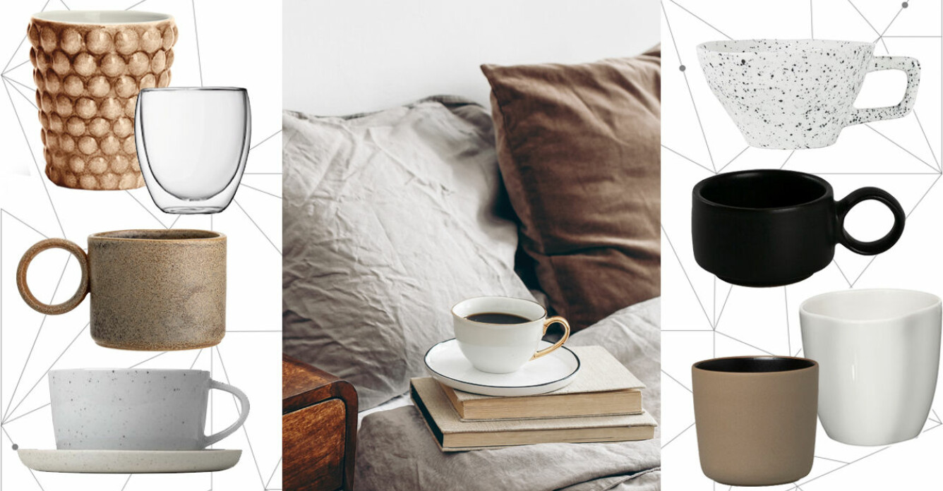 snygga och trendiga kaffekoppar och tekoppar