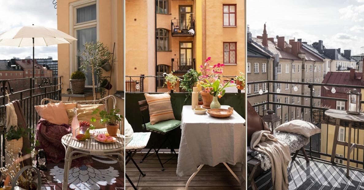 Snabba och enkla balkonghacks som skapar stilkänslaS