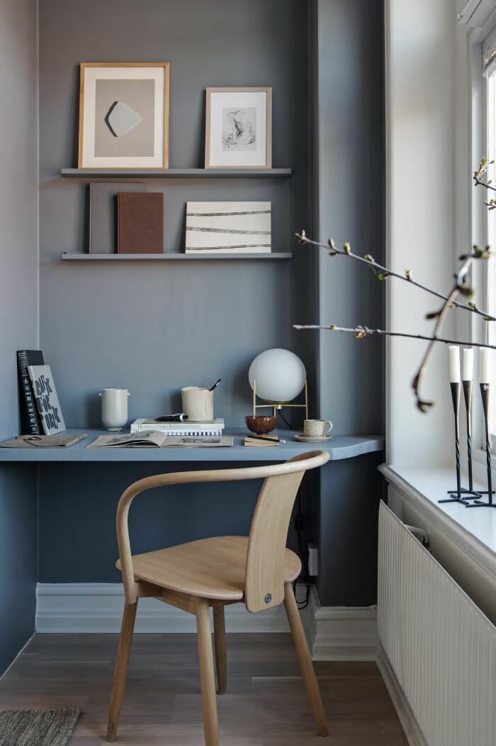 snyggt litet hemmakontor med compact living-tänk