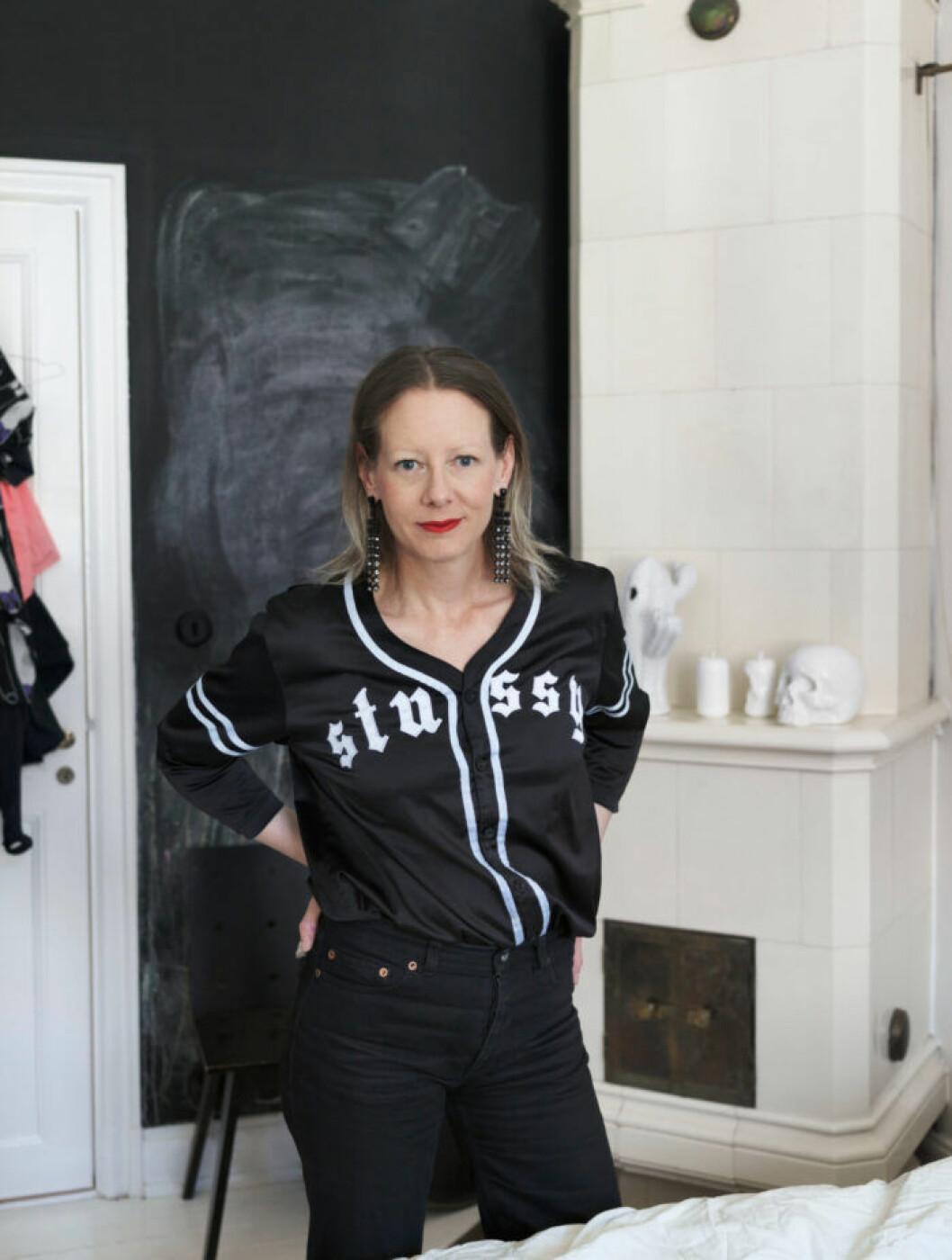 Els-Marie Enbuske i sin lägenhet i Stockholm