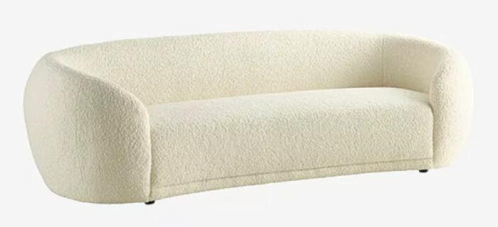 soffa i teddymaterial