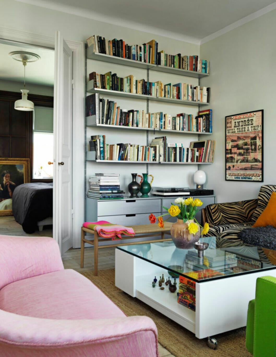 Mycket platsbyggda lösningar hemma hos Sofia Linfeldt i Skåne