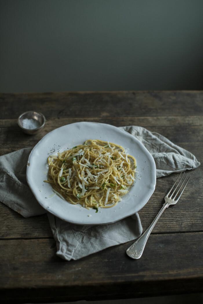 Sofia Woods recept på pasta al burro med parmesan