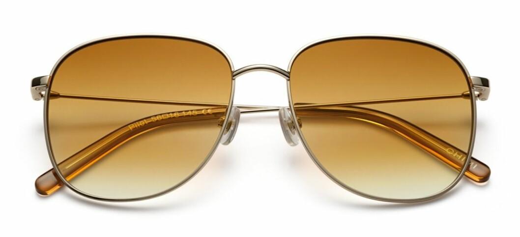 Pilotsolglasögon med varmt tonade glas från Chimi.