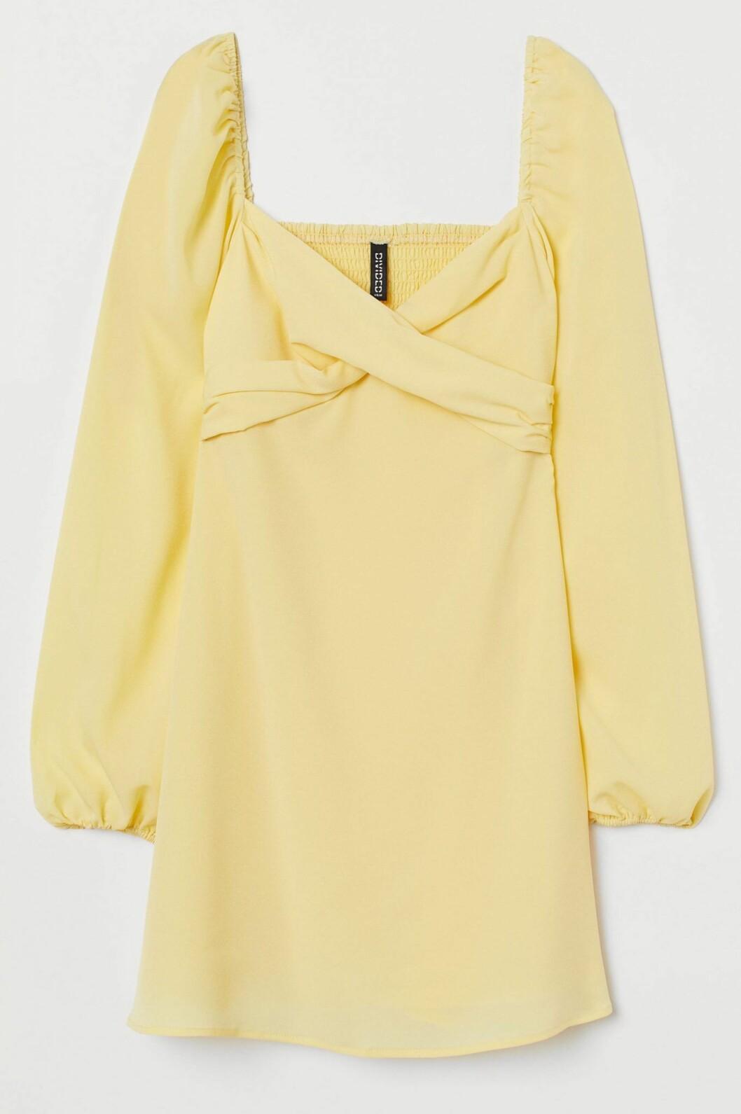 Solgul klänning från H&M .