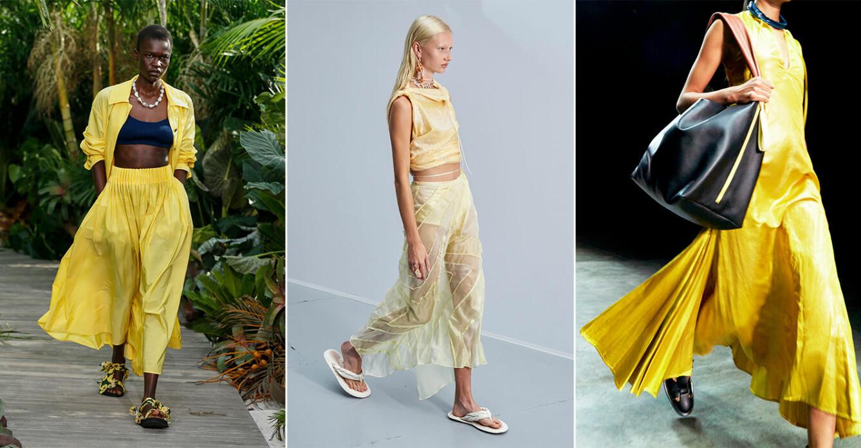 Shopping i vårens trendfärg gul 2021.