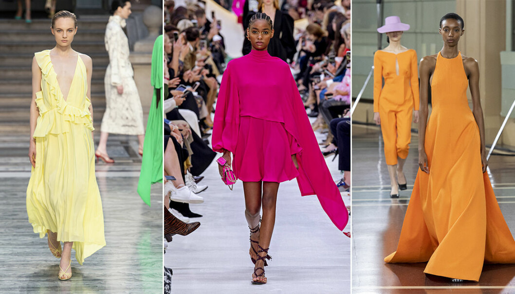 trendiga färger sommaren 2020