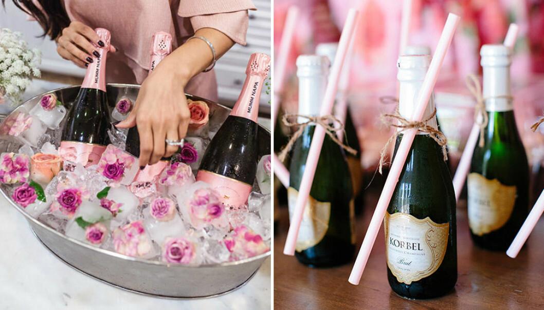 Bubbel är ett måste på festen. Se till att det även finns alkoholfritt!