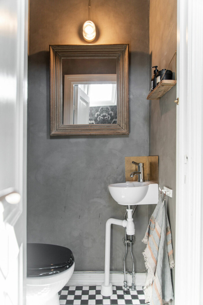 Modernt badrum i sommarhuset i Borås