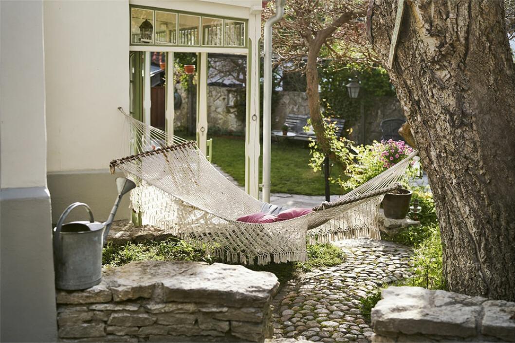 Inspiration för hängmatta i trädgården