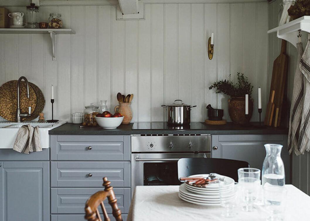 Lantlig och somrig känsla i köket