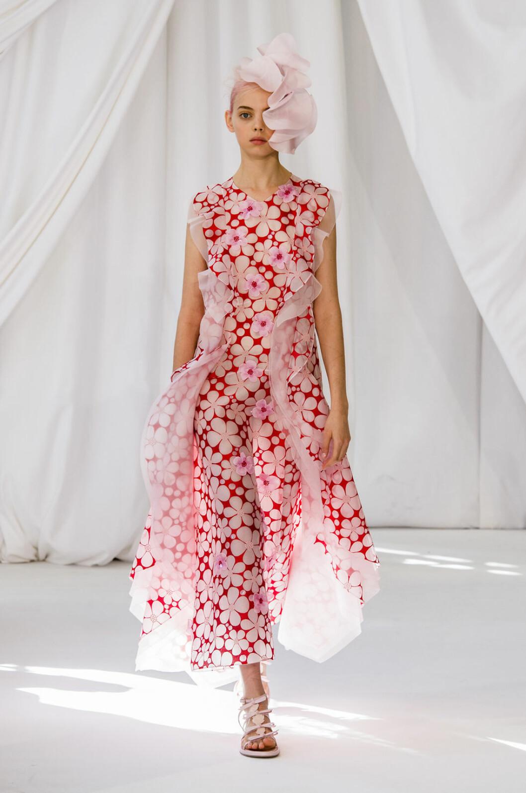 Delpozo blommig klänning ss-19