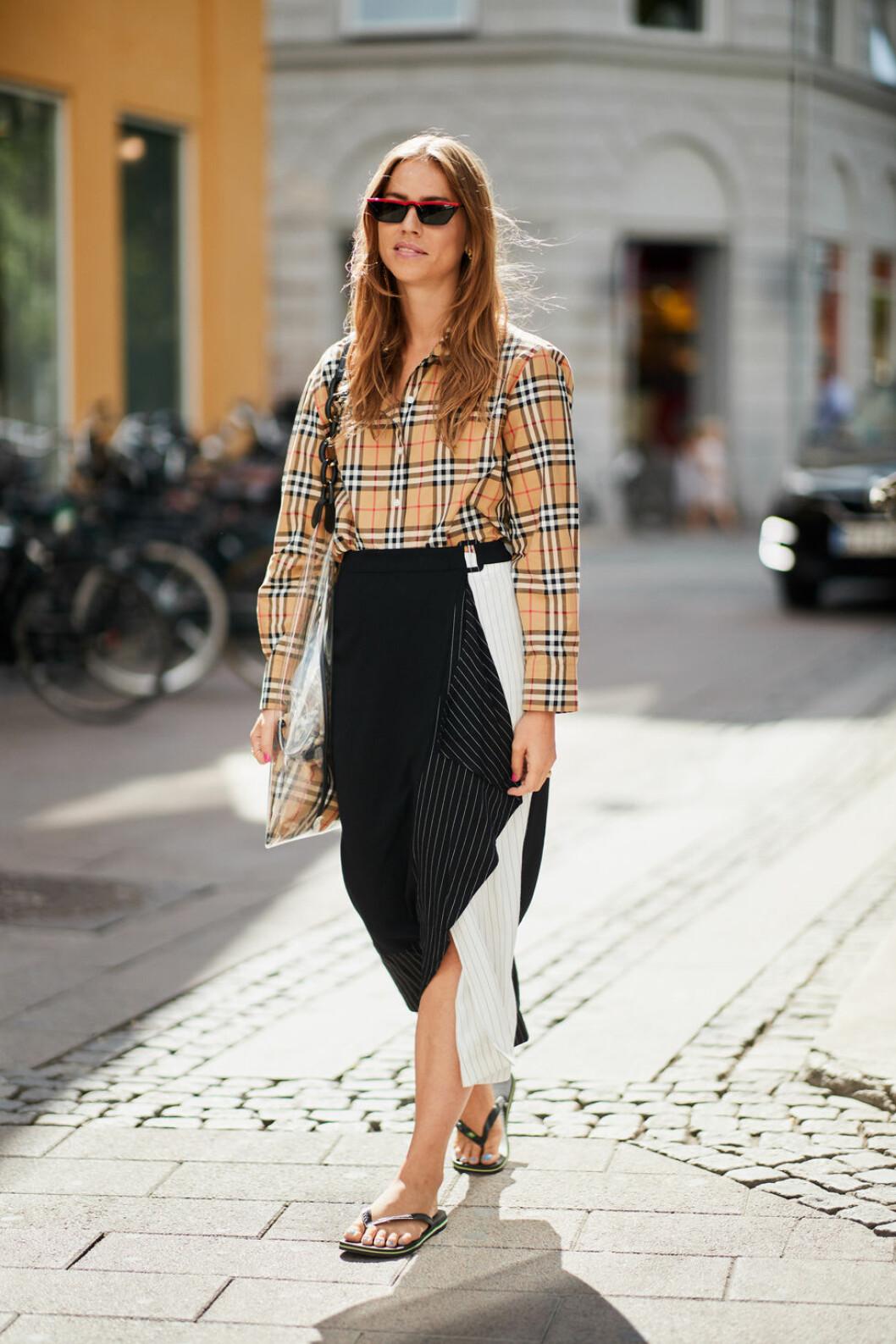 Flipflop sandaler på Inspiration från Köpenhamns modevecka.